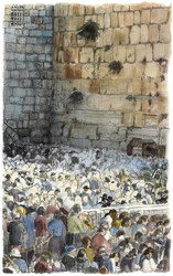 The Wailing Wall: JUDAICA PAINTING, ISRAELI ART